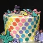 butterfly polka dot