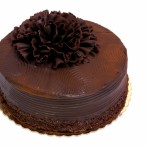 Dark Chocolate Ruffle Cake